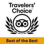 'Best of the Best Travelers' Choice' Award by Trip Advisor